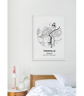 Affiche Carte Thionville