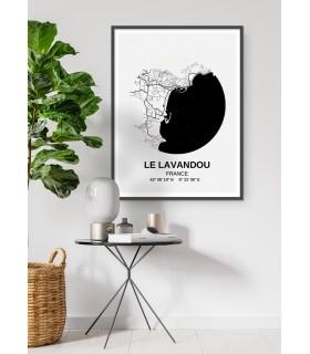 Affiche Carte Le Lavandou