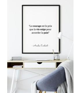 """Affiche Amelia Earhart : """"Le courage est le prix..."""""""