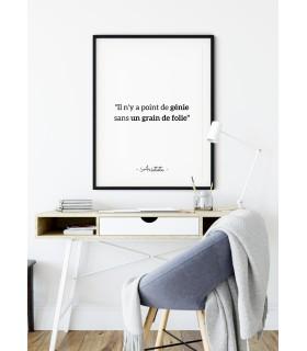 """Affiche Aristote : """"Il n'y a point de génie..."""""""