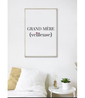 Affiche Grand-Mère(veilleuse)