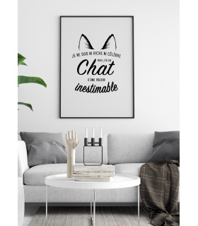 """Affiche """"Chat inestimable..."""""""