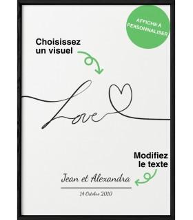 Affiche Couple [personnalisable]