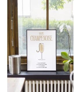 Affiche Cocktail Soupe Champenoise