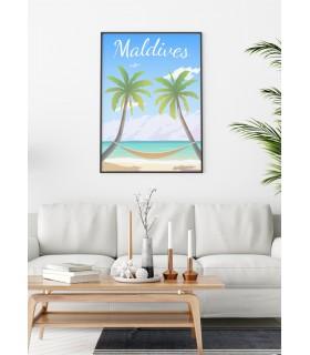 Affiche Maldives