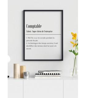 Affiche Définition Comptable