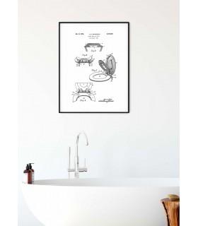 Affiche Brevet Toilettes