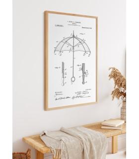 Affiche Brevet Parapluie