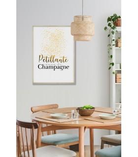 """Poster """"Pétillante comme du champagne"""""""