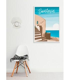 Affiche Santorin
