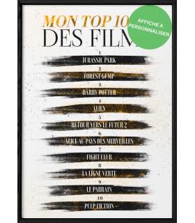 Affiche mon top10 des films [personnalisable]