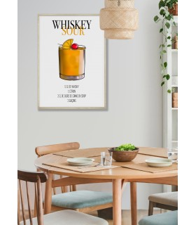 Affiche Cocktail Whiskey Sour
