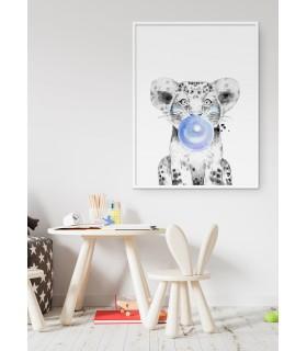 Poster Bulle de Lionceau Bleue