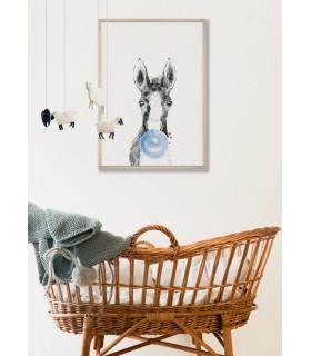 Poster Bulle de Cheval Bleue