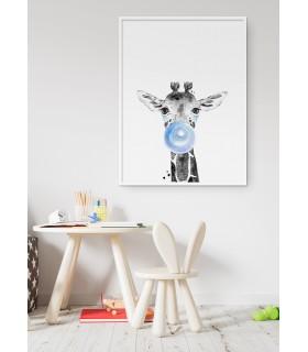 Poster Bulle de Girafe Bleue