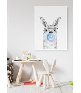Poster Bulle d'Alpaga Bleue