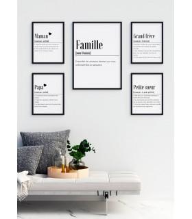 Affiche Définition Famille