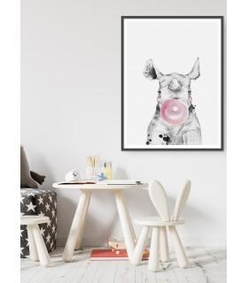 Poster Bulle de Rhinocéros