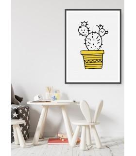 Poster Cactus jaune