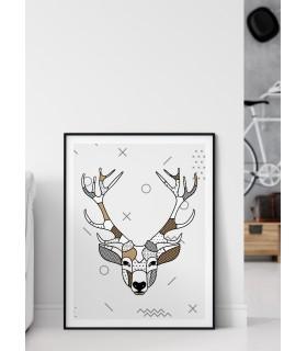 Affiche Cerf scandinave