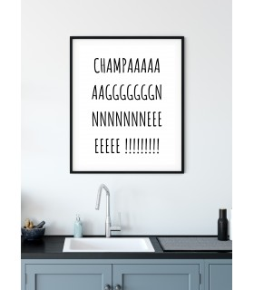 Poster Champagne