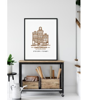 Poster Coordonnées Amsterdam