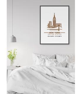 Poster Coordonnées New York