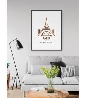 Poster Coordonnées Paris
