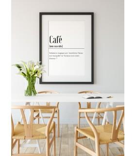 Poster Définition Café