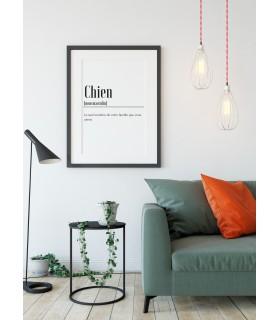 Affiche Définition Chien