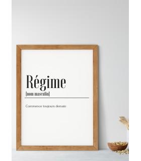 Affiche Définition Régime