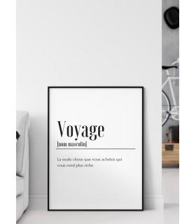 Affiche Définition Voyage