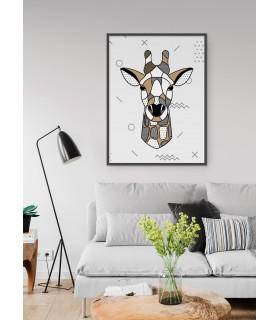 Affiche Girafe scandinave