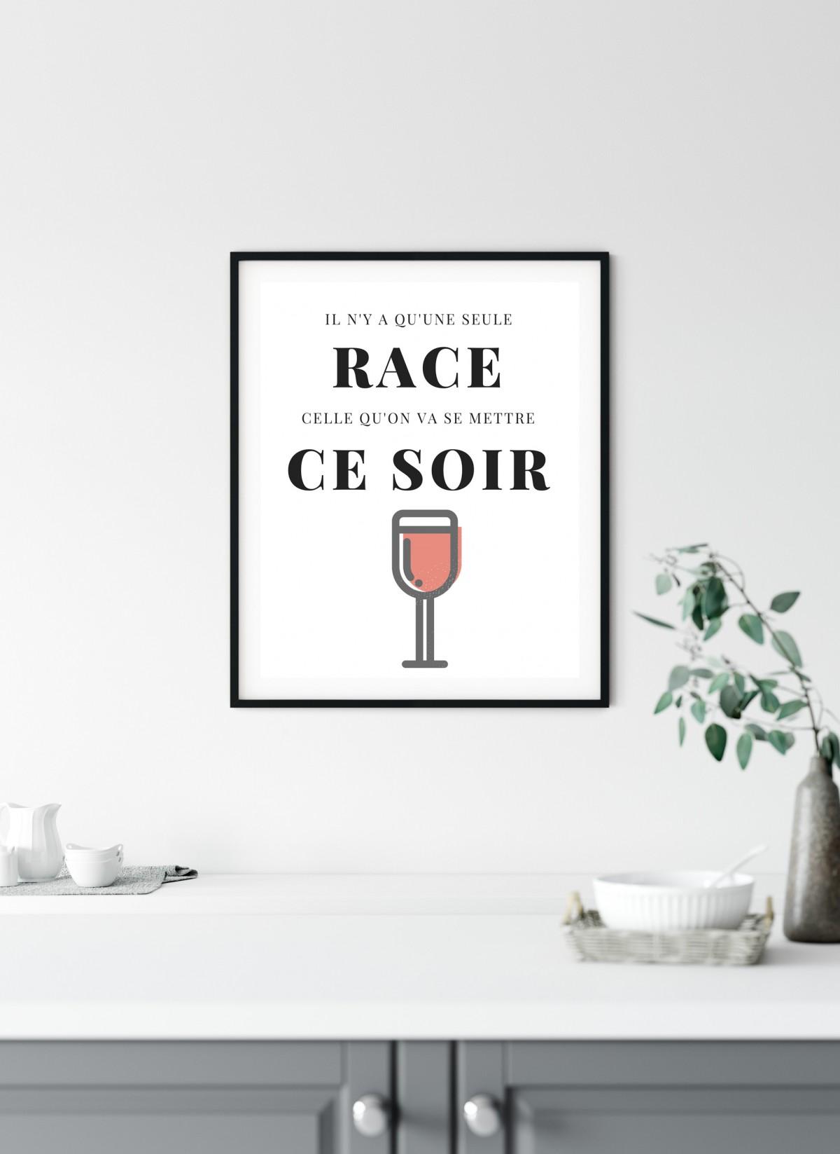 Image Pour Mettre Dans Un Cadre affiche il n'y a qu'une seule race