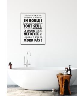 Affiche Il paraît que dans cette salle de bain....