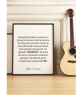 """Affiche J.Lennon : """"Ils n'avaient pas compris la vie"""""""