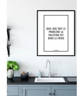 Affiche La solution est dans le frigo