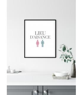 Affiche Lieu d'aisance