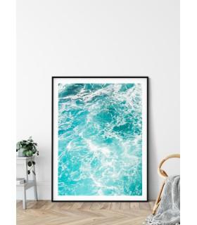 Affiche Nature mer et vagues