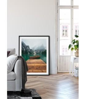 Poster Nature paysage montagnes