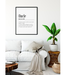Affiche Définition Oncle