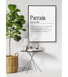 Affiche Définition Parrain