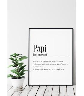 Affiche Définition Papi