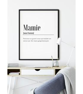Affiche Définition Mamie