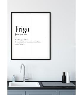 Affiche Définition Frigo