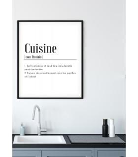 Affiche Définition Cuisine