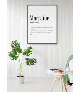 Affiche Définition Marraine