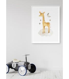 Affiche Enfant Girafe