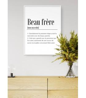 Affiche Définition Beau Frère