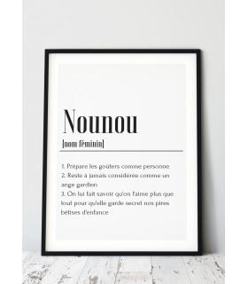 Affiche définition Nounou
